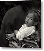 Child Of Chichicastenango Metal Print