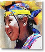 Child Of The Forest 1 Metal Print by Lester Phipps