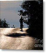 Child On Bicycle, Italy Metal Print