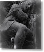 Child Statue Metal Print by Jennifer Burley