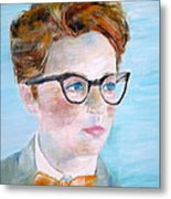 Child With Glasses Metal Print