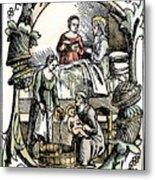Childbirth, 1499 Metal Print