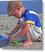 Childhood Beach Play Metal Print