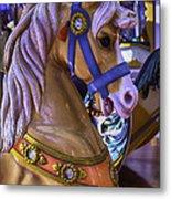 Childhood Carrousel Ride Metal Print