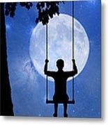 Childhood Dreams 2 The Swing Metal Print by John Edwards