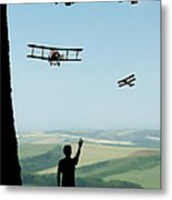 Childhood Dreams The Flypast Metal Print by John Edwards