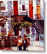 Childhood Montreal Memories Balconies And Bikes The Boys Of Summer Our Streets Tell Our Story Metal Print