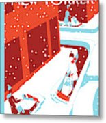 Snowplows Metal Print