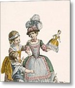 Children At Play, Engraved By Patas Metal Print