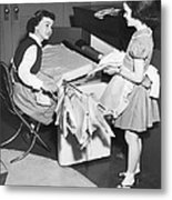 Children Doing Housework Metal Print