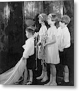 Children In A Wedding Procession Metal Print