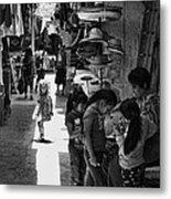 Children In The Rosarito Art Shops Metal Print