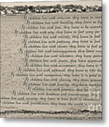 Children Learn What They Live 2 Metal Print