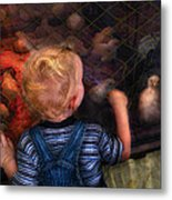 Children - Look At The Baby Metal Print by Mike Savad