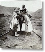 Children With Camera, C1900 Metal Print
