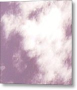 Child's Face Looking Down From The Clouds Metal Print