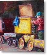 Child's Play - Gold Mine Train Metal Print