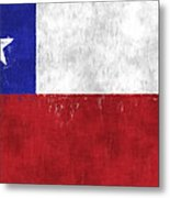 Chile Flag Metal Print