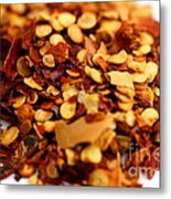 Chili Pepper Flakes Metal Print