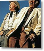 Chill Wills And Andy Devine Singing Atop A Stagecoach Old Tucson Arizona 1971 Metal Print