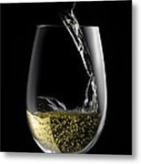 Chilled White Metal Print by Dennis James
