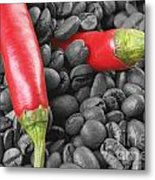 Chilli And Coffee Metal Print