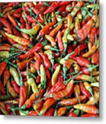 Chilli Background Metal Print
