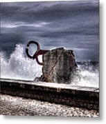 Chillidas Comb Of The Wind In San Sebastian Basque Country Spain Metal Print