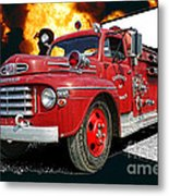 Chilliwack Fire-coming Out Into The Fire Metal Print