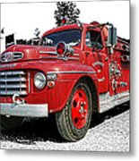 Chilliwack Fire- Mercury Firetruck Metal Print