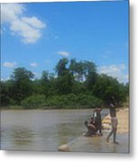 Chilonga Bridge Metal Print