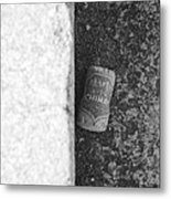 Chimay Wine Cork In Black And White Metal Print
