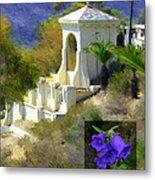 Chimes Tower Bell Flower Metal Print