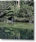 Chimes Tower Reflection Metal Print