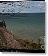 Chimney Bluffs Lake Ontario New York Metal Print