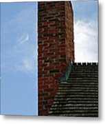 Chimney Moon Metal Print