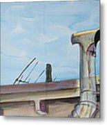Chimney Pipe And Berkeley Sky Metal Print