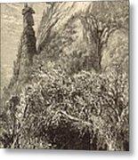 Chimney Rock At Hickory-nut Gap 1872 Engraving Metal Print