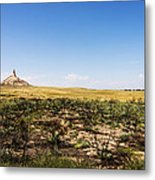Chimney Rock - Bayard Nebraska Metal Print