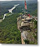 Chimney Rock Overlook Metal Print
