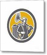 Chimney Sweeper Worker Retro  Metal Print by Aloysius Patrimonio