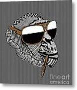 Chimp 4 Metal Print