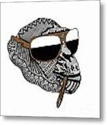 Chimp1 Metal Print by Karen Larter