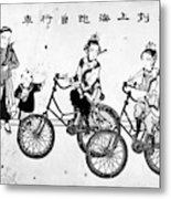China Bicyclists, C1900 Metal Print