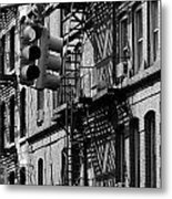 China Town Fire Escape Metal Print