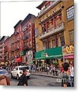 China Town Nyc Metal Print
