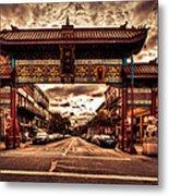China Town Victoria Metal Print