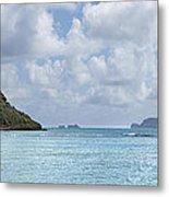 Chinamans Hat Panorama - Oahu Hawaii Metal Print