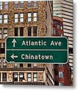 Chinatown Boston Metal Print
