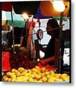 Chinatown Fruit Vendor Metal Print